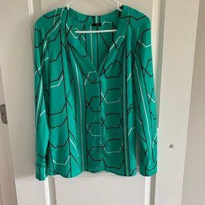 Green Geometric Blouse